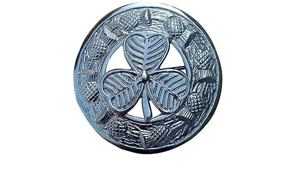 """Schottischer Kilt Pin Chrom 4 /""""// Distel Heritage Pins Broschen Keltisches Design"""