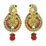 Surat Diamonds Ethnic Indian Motif, Red ...