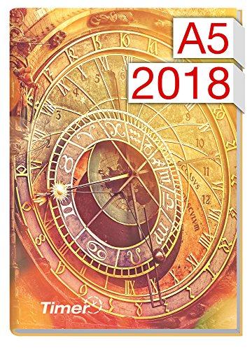 Chäff-Timer Classic A5 Kalender 2018 [Astro-Uhr] 12 Monate Jan-Dez 2018 – Terminkalender mit Wochenplaner – Organizer – Wochenkalender