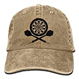 rongxincailiaoke Hüte,Kappen Mützen Darts Board Logo Unisex Cotton Denim Baseball Cap Hat Adjustable Snapback Topee