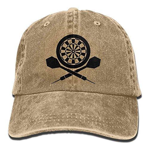 Preisvergleich Produktbild rongxincailiaoke Hüte,Kappen Mützen Darts Board Logo Unisex Cotton Denim Baseball Cap Hat Adjustable Snapback Topee