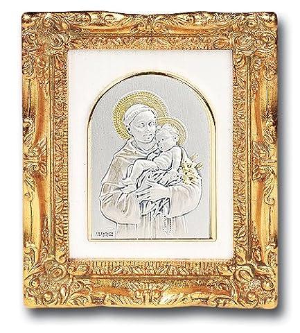 Sterling Silber Hochzeit zu Kana Bibel Story Gold gerahmt, Motiv: katholische religiöse