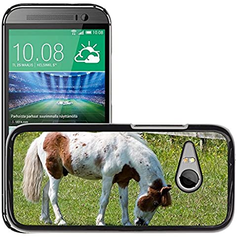 Just Cover Hot Style-Custodia rigida per cellulare, motivo: cavallo/Pony M00140281 pascolo Pretty/Equine/HTC One M8, MINI MINI 2 (non compatibile con M8)