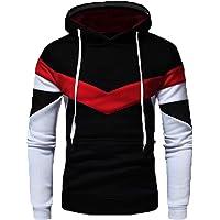 Leotude Cotton Black Maroon White Hoodie Jacket for Men