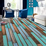 Huhu833 Adhesive Tile Art Boden Wandtattoo Aufkleber DIY Küche Badezimmer Dekor Wandaufkleber Wandtattoo Wandsticker 20x50cm (D)