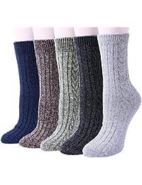 5 pares de mujeres en clima frío cálido cálido y grueso equipo de lana Casual invierno
