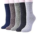Best Thermal Socks - 5 Pairs Womens Thermal Wool Socks Warm Knit Review