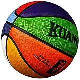 Kuangmi Bunter Basketball, Größe 7,Größe 6,Größe 5,Größe 4,ideales Geschenk für Kinder Größe 5 Size 5