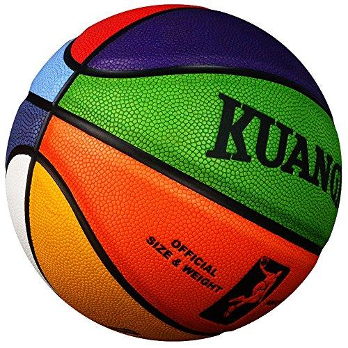 Colores de kuangmi Equipo Crossover 3Tamaño Balón de baloncesto Intermedio Pequeño Tamaño 7& Tamaño 6& Tamaño 5para hombre mujeres y jóvenes, color , tamaño talla 5