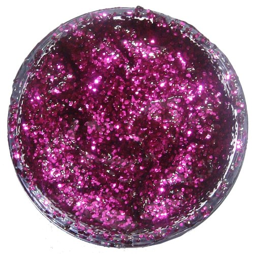 Snazaroo Kinderschminke Effekt Glittergel, 12ml Topf - holographischer Glitzer, Fuchsienrosa