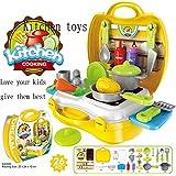 26 PCS Set Of Pretend Kitchen Food Playset For Kids