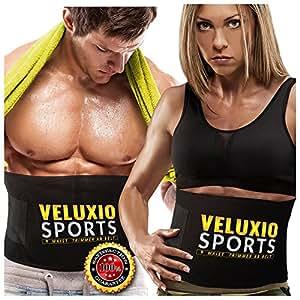 Veluxio Ceinture Abdominale de Sudation Homme et Femme