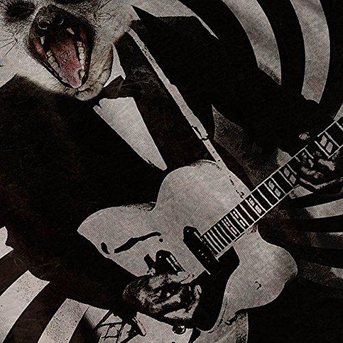 Gitarre Tier Rock Tier Komisch Tier Damen S-2XL Muskelshirt   Wellcoda Weiß