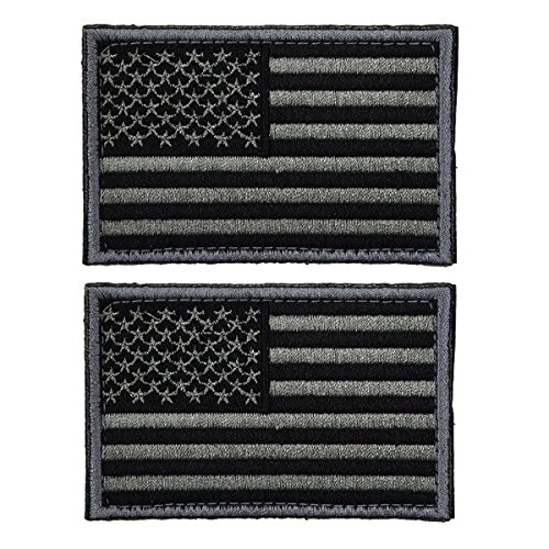 ULTNICE Flag Patches Tactical USA Flag Patch Self-Adhesive US Military Uniform Emblem Patches Pack of 2