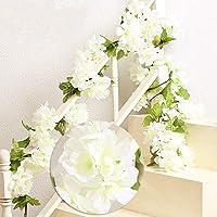 MZMing 2pcs x 235cm Fleur Artificielle Fleur de Cerisier Suspendu Vigne Guirlande Simulation Plante Fleur Feuille de…