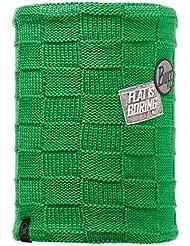Buff Neck Warmer Knit and Polar - Gorro de esquí para mujer, color verde, talla única