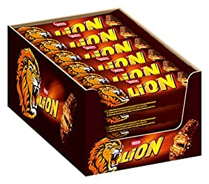 Nestle Lion Schoko-Riegel I mit Karamell I Milch-Schokolade I 24er Pack (24 x 42g) Großpackung