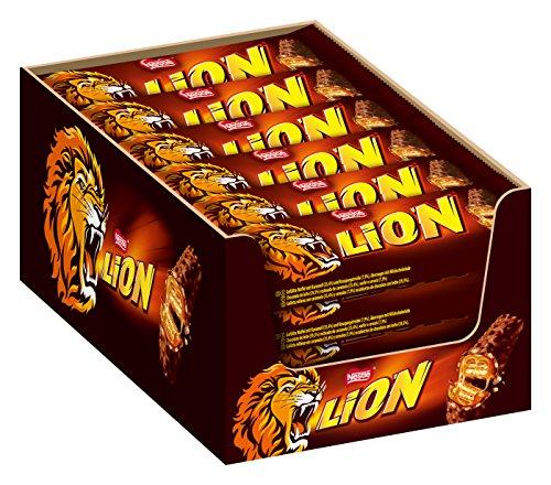 Erdnuss-schokolade (Nestle Lion Schoko-Riegel I mit Karamell I Milch-Schokolade I 24er Pack (24 x 42g) Großpackung)