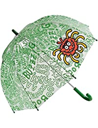 Paraguas kukuxumusu niño transparente monster