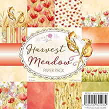 Wild Rose Studio Ltd. Single Sided Paper Pack 6-Inch x 6-Inch 3Harvest Meadow, Acrylic, Multicoloured, 2-Piece