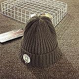 Wanglele Bebé Sombrero Niños Invierno Tapa Knit Hat Conjunto De Tapa De La Cabeza Del Bebé, Los Bebés Varones Y Otoño Cálido, Gris Oscuro 1, Resistente 46-52Cm.
