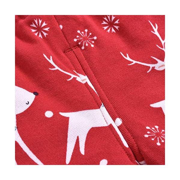 Shenye - Pantalones de Navidad para bebé, diseño de Ciervo 5
