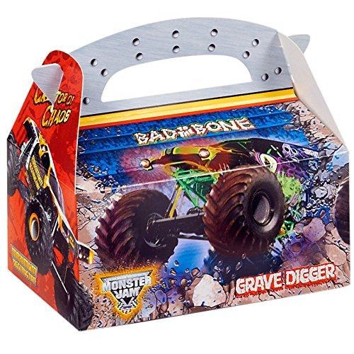 Monster Jam Party Supplies - Empty Favor Boxes (4) by BirthdayExpress (Supplies Jam Party Monster)