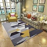 L&ZX Moderne Große Rutschfeste Teppiche, Einfach Zu Reinigen Für Teppich, Flur Teppich Schlafzimmer Wohnzimmer,2,160Cmx230cm