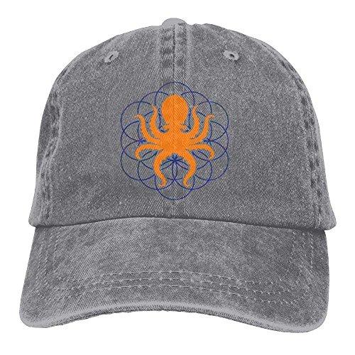Baseball Jeans Cap Psychedelic Sacred Geometry Octopus-2 Men Golf Hats Adjustable Dad Hat