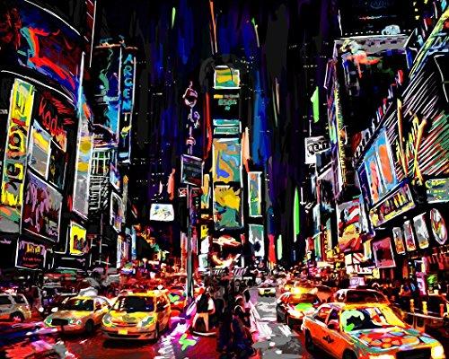 Castle & Rye Times Square Art Posterdruck für Wohnzimmer oder Schlafzimmer Modern 24x36 Multi