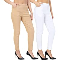 Istyle Can Women Slim Fit Cigarette Pants