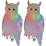 Dyvicl Bird Scare Owl - Bird Repellent Control Scare Device, Holographic Reflective Woodpecker