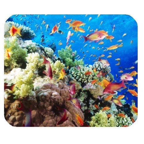 Barriera Corallina, pesci corallo, vita di mare in gomma antiscivolo mousepad Gaming Mouse Pad Mat