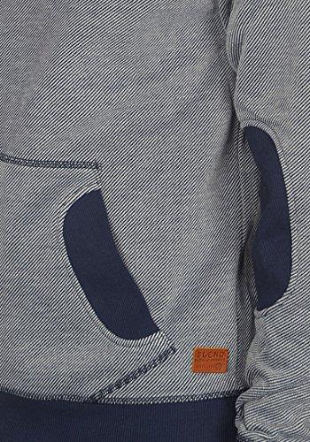 BLEND Steve Herren Kapuzenpullover Hoodie Sweatshirt aus hochwertiger Baumwollmischung Meliert Navy