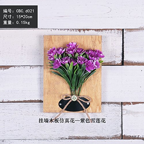 XMJR Stereo-Emulation blühende Pflanzen Wand Wand Dekorationen kreative Heimat gefälscht Blumen Wohnzimmer an der Wand Wandbehänge, lila Eis Lotus (Eis-skulpturen-buchstaben)