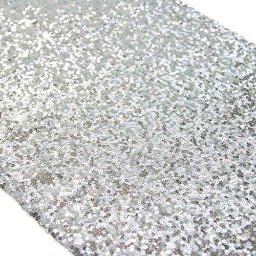 au Pailletten Tischläufer Großhandel-Silber Pailletten Tabelle Runner(30x275cm) (Großhandel Tischdecken Für Hochzeiten)