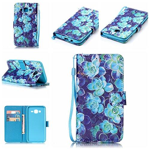 Samsung Galaxy J5 (2015) - Protective Cellphone Case Boys Leather Case/Cover / Bumper/Skin / Cushion - Fashion Art Collection (Begonia) - Begonia-arten