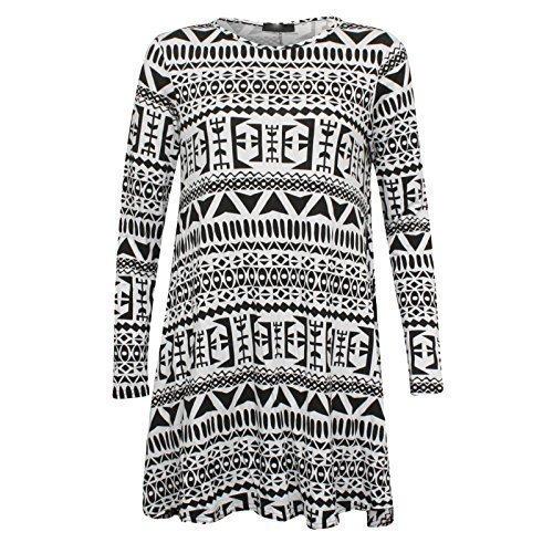 Damen Promis Azteken Animal Armee Rosen Totenkopf Bedruckt Skater Swing Kleid Übergrößen Ägyptisch Aztekenmuster Damen Swing Kleid