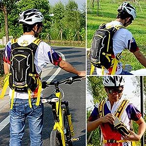 Lixada 18L Bicicleta Mochila de Hombro para Hidratación de Agua Respirable Impermeable UltraligeroCon Cubierta de Lluvia