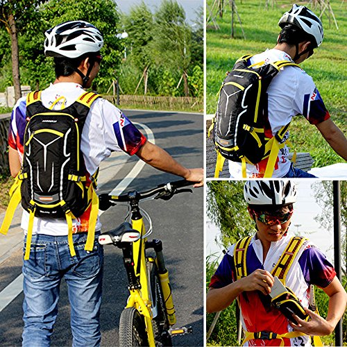 Lixada 18L Water-resistant Breathable Cycling Bicycle Bike Shoulder Backpack Ultralight Outdoor Sports Riding Travel Mountaineering Hydration Water Bag Unisex with Rain Cover