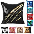 "Janecrafts Two-color Paillette Reversible Sequins Mermaid Pillow Cases 16 X 16"" - low-cost UK light store."
