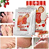 Exfoliating Wolfberry Foot Mask LuckyFine Whitening Dry Skin Foot Treatment Wolfberry in Himalayan Region Two Pairs