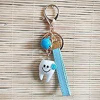 Zahn Zahnbürste Vorsorge Schlüsselanhänger Anhänger aus Metall