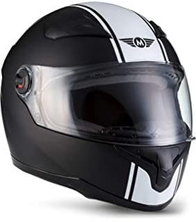 "53-54cm MOTOHelmets/® X86 /""Racing Matt White/"" /· Full-Face Helmet /· Motorcycle-Helmet Scooter motorbike Cruiser Biker Bike Urban Stree-Fighter classic Helmets /· ECE 22.05 Visor Click-n-Secure Bag XS"