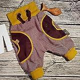 Cordhose Hose Cord Kinderhose Babyhose Mitwachshose Pumphose Wunschgröße personalisiert handmade Taschen Hosentaschen retro braun senf gelb