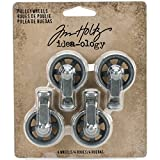 Tim Holtz Mini puleggia Ruote Craft Accessories, Grigio