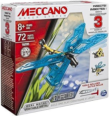Meccano - 6033321 - Juego de construcción - Insectos 3 Modelos