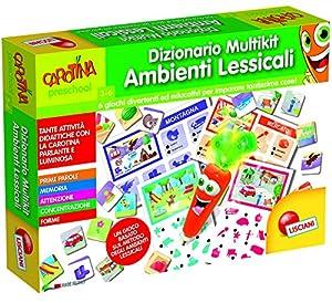 Lisciani Giochi 53391-Carotina Penna Parlante Diccionario Multikit Entornos léxicos