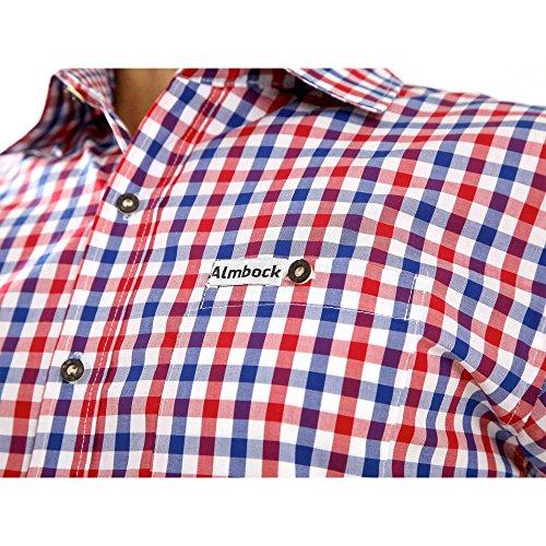 newest 7724e b8e70 ALMBOCK Trachtenhemd Herren kariert | Slim-fit Männer Hemd ...