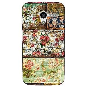 Jugaaduu Floral Pattern Back Cover Case For Moto X (1st Gen)